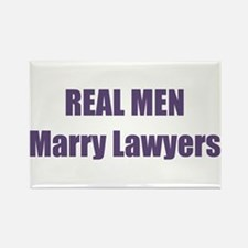Real Men Marry Lawyers Rectangle Magnet