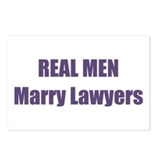 Real Men Marry Lawyers Postcards (Package of 8)