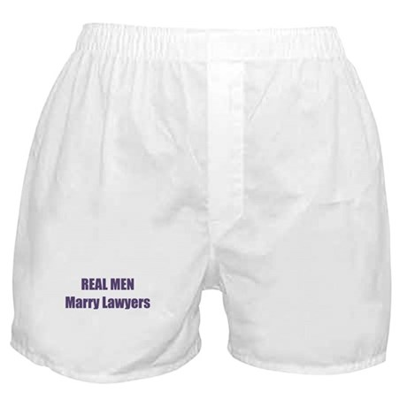Real Men Marry Lawyers Boxer Shorts