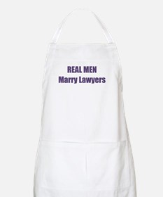 Real Men Marry Lawyers BBQ Apron