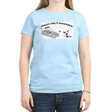 Pontoon boat & Wine Women's T-Shirt