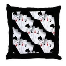 Poker Dreams Throw Pillow