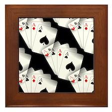 Poker Dreams Framed Tile
