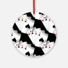 Poker Dreams Ornament (Round)