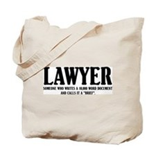Funny Lawyer Tote Bag