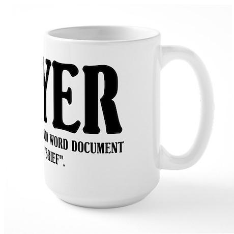 Funny Lawyer Large Mug