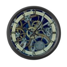 Cogs and Gears Large Wall Clock