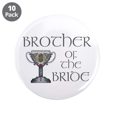 """Celtic Brother Bride 3.5"""" Button (10 pack)"""