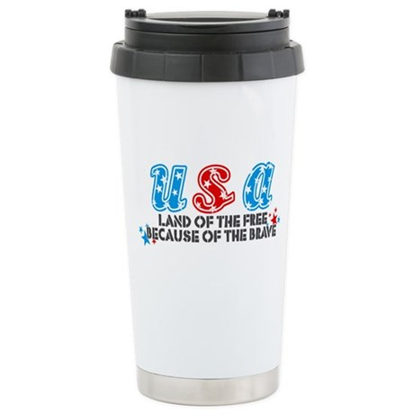 USA - Stainless Steel Travel Mug