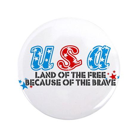 """USA - 3.5"""" Button"""
