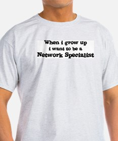 Be A Network Specialist Ash Grey T-Shirt