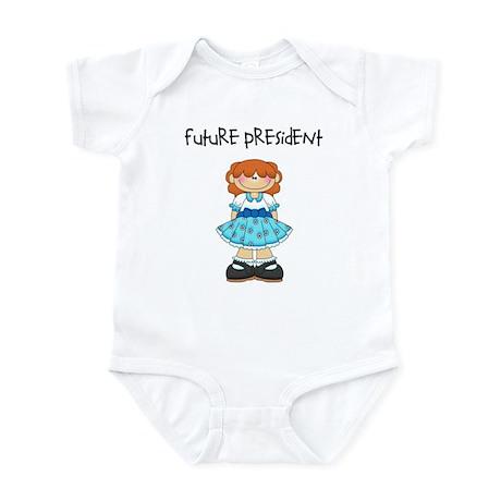Future President Redhead Girl Infant Bodysuit