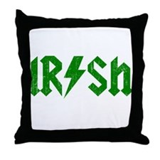 Irish Green Beer ACDC Throw Pillow