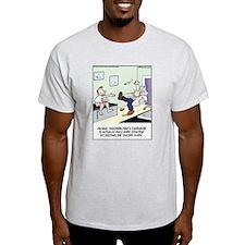 Cantaloupe keeps Doc Away Ash Grey T-Shirt