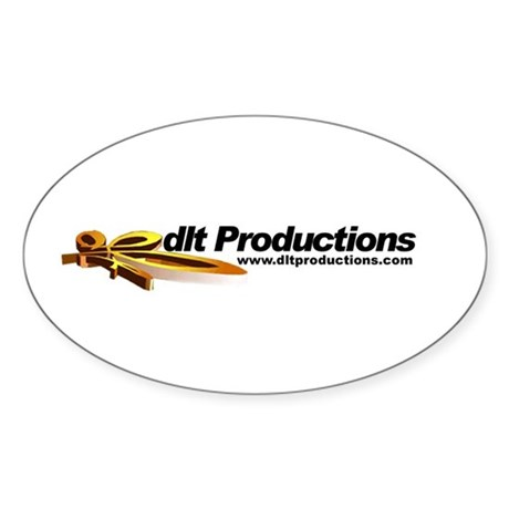 dlt Productions Oval Sticker