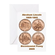 New Lincoln Penny Greeting Card