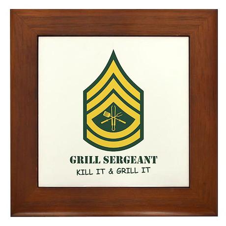 Grill Sgt. Framed Tile