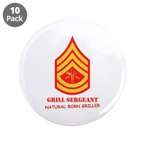 "Grill Sgt. 3.5"" Button (10 pack)"