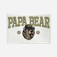 New Papa Bear Dad Rectangle Magnet