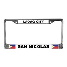 Laoag City San Nicolas License Plate Frame