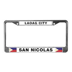 Laoag City San Nicolas License Plate Frame