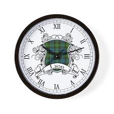 Lyon Tartan Shield Wall Clock