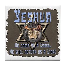 Yeshua, Lamb & Lion Tile Coaster