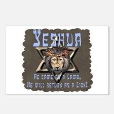 Yeshua, Lamb & Lion Postcards (Package of 8)