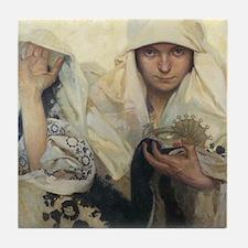 Alphonse Mucha Art Tile Coaster - Fate