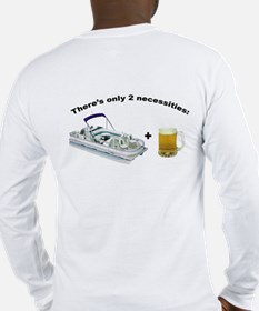 Pntoon Boat Beer Long Sleeve T-Shirt