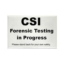 CSI Forensic Testing in Progress Rectangle Magnet