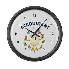 Accountant Large Wall Clock