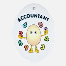 Accountant Oval Ornament