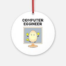 Computer Eggineer Ornament (Round)