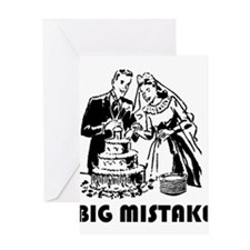 Big Mistake Greeting Card