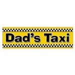 Dad's Taxi Funny Parent Stickers (Bumper)