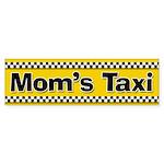 Mom's Taxi Funny Parenting Bumper Sticker