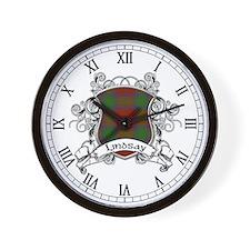 Lindsay Tartan Shield Wall Clock