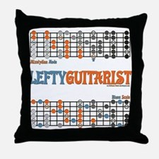 Left-handed Cheat Sheet Throw Pillow