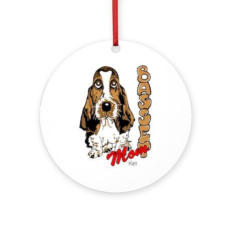 Basset Mom Ornament (Round)