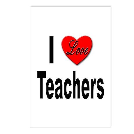 I Love Teachers Postcards (Package of 8)