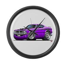Dodge Demon Purple Car Large Wall Clock