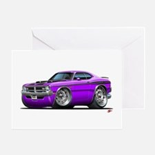 Dodge Demon Purple Car Greeting Card