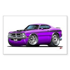 Dodge Demon Purple Car Rectangle Sticker 10 pk)