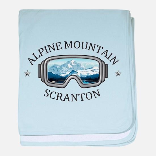 Alpine Mountain Ski & Ride Center - baby blanket