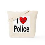 I Love Police Tote Bag