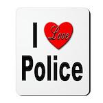 I Love Police Mousepad