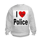 I Love Police Kids Sweatshirt