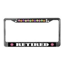 Fun Retired License Plate Frame