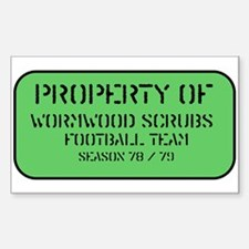 Wormwood Scrubs Prison Rectangle Decal